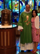 With my wife Karen after Mass at St. Catherine of Sweden