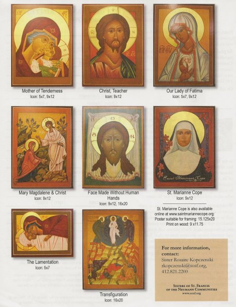 Icons available from Sister Rosaire